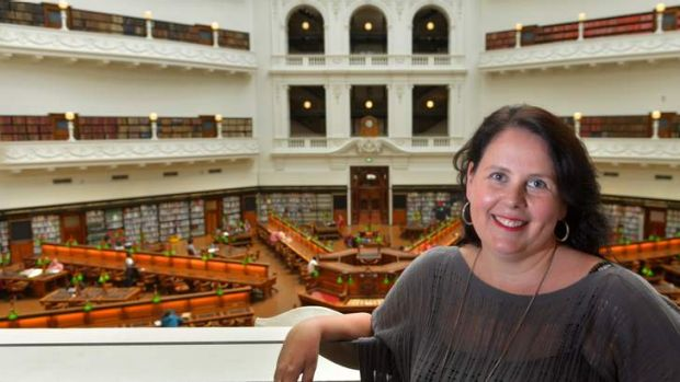 Kate Forster in the State Library Reading Room.