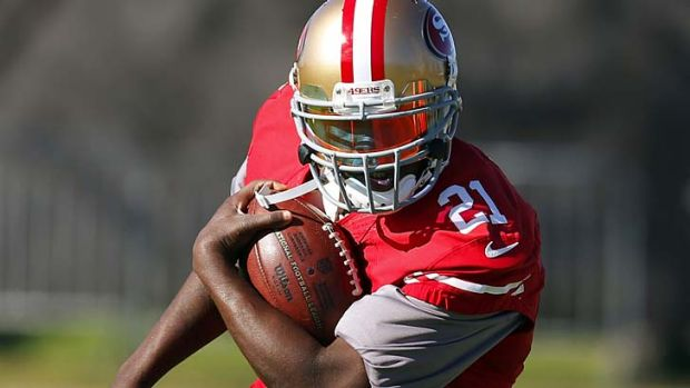 San Francisco 49ers running back Frank Gore trains for the big event.