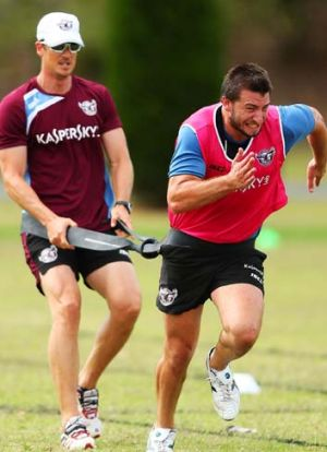 Liam Foran of the Sea Eagles,