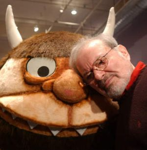 Sendak with one of his beloved Wild Things in 2002. He died in 2012, aged 83.