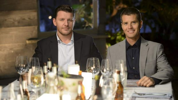 Mastered the art of casting ...  <i>My Kitchen Rules</i> judges Manu Feildel and Pete Evans.