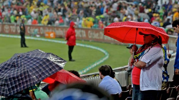 Poor … drizzle ruined the ODI at the SCG last month.