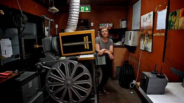 Reeling back the years … Dr Lisa Milner at the Bowraville picture theatre, once a segregated cinema that has been ...
