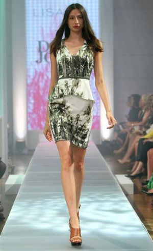 Walking on … model Alexandra Agoston.