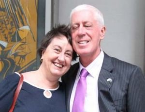 Relief … Maureen and Graeme Innes outside court.