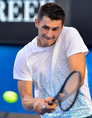 First round loss ... Bernard Tomic in action last month.