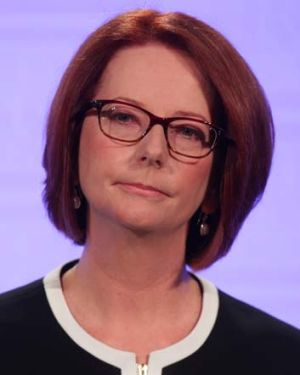 Reality check ... Prime Minister Julia Gillard.