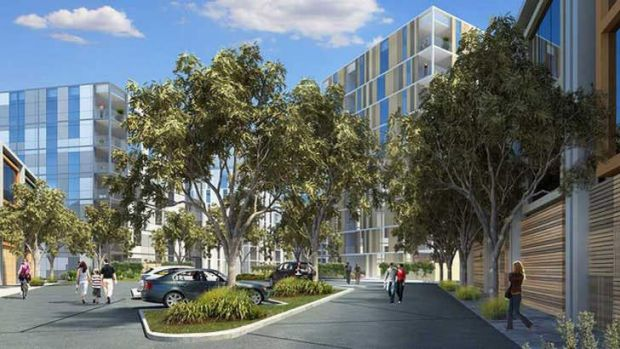 A digital imagining of the apartments on Orrong Road and Osment Street in Armadale.