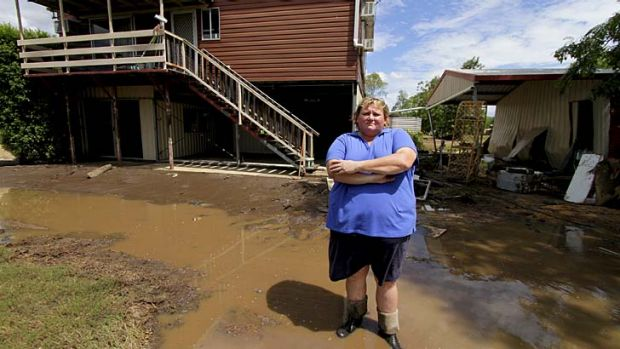 Struck twice … Wendy Linsley outside her Laidley home.