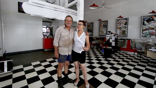 Gary and Denise Morris will be doing it all again after their Eagle Street Cafe on Patrick Street, Laidley, was hit by ...