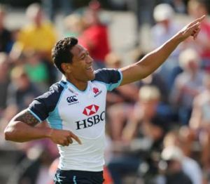 Starting well ... Israel Folau.