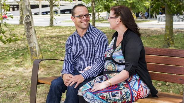 Hamish MacDonald with his wife Alley in Belconnen.