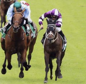 Secessio (right) ridden by Corey Brown.