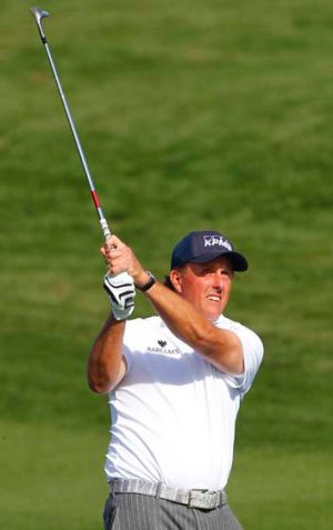Phil Mickelson in action during the third round in Arizona.
