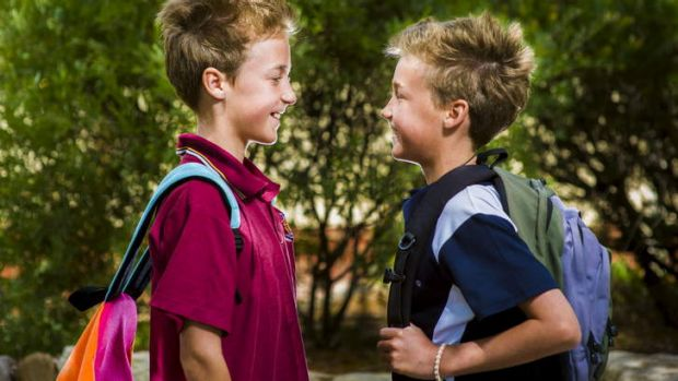 Identical twins Issac and Henry are going to separate high schools, Lyneham and Campbell High, respectively.