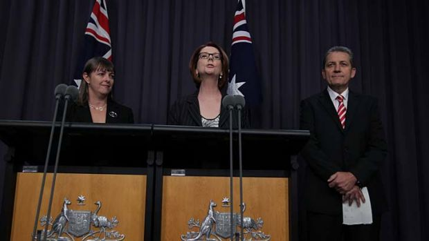 Timing, not content, an issue ... Julia Gillard announced the resignation of Nicola Roxon and Chris Evans early partly ...
