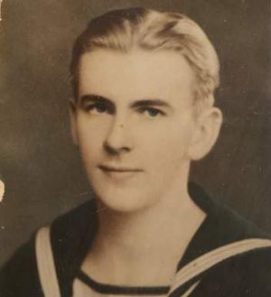 Fred Lasslett as a young sailor.