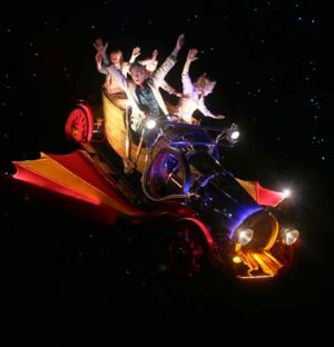 Cast of Chitty Chitty Bang Bang in the titular car.