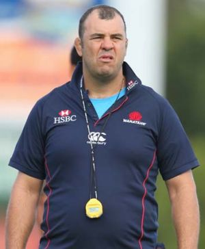 Waratahs head coach ... Michael Cheika.