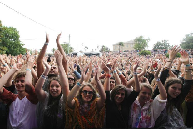 The crowd as Of Monsters and Men perform.