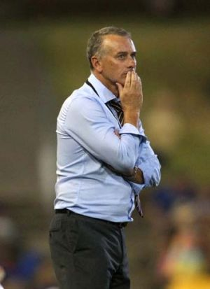 Newcastle Jets coach ... Gary van Egmond.