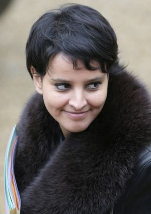 France's minister of women's rights Najat Vallaud-Belkacem