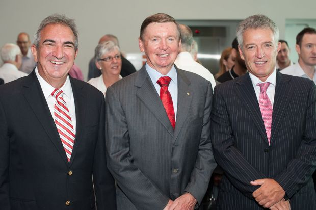 Mike Board, Governor Malcolm McCusker and Keith Johns.