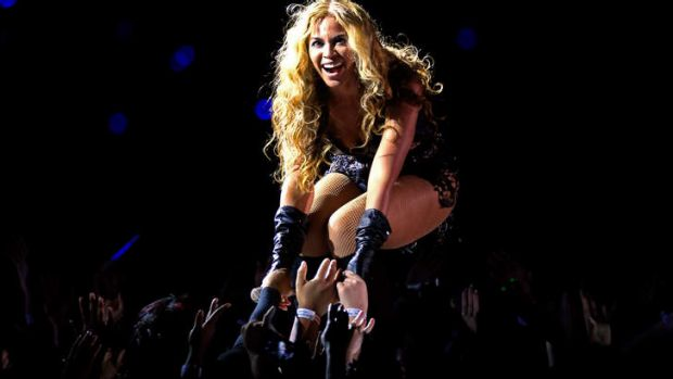 Beyonce performs during the Pepsi Super Bowl XLVII Halftime Show.  <br><a ...