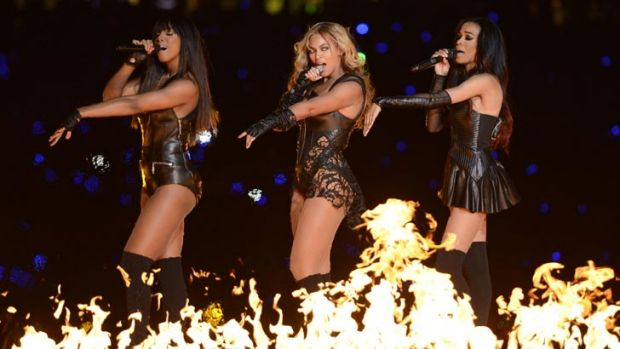 Beyonce and her leather-clad Destiny's Child co-stars wowed Sunday's Super Bowl audience.