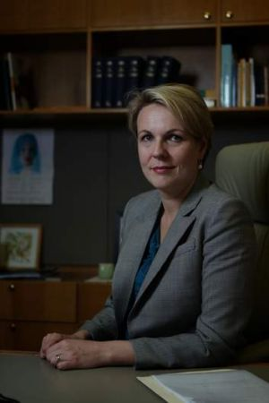 Health Minister Tanya Plibersek in her office at Parliament House.