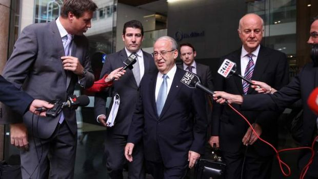 Questioned ... Eddie Obeid, pictured leaving ICAC yesterday.