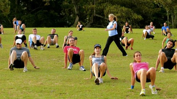 New trend … people are ditching gyms and meeting up for free exercise sessions, yoga, swimming and football in ...