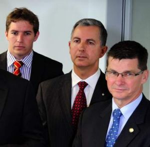 From left: Alistair Coe, Jeremy Hanson and Brendan Smyth.