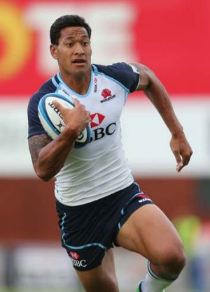 Shaping up nicely ... Israel Folau.