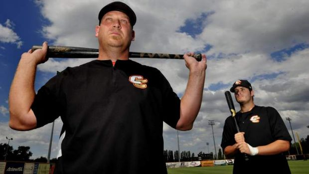 Michael Wells and Aaron Sloan are the youngest and oldest members of the Canberra Cavalry.
