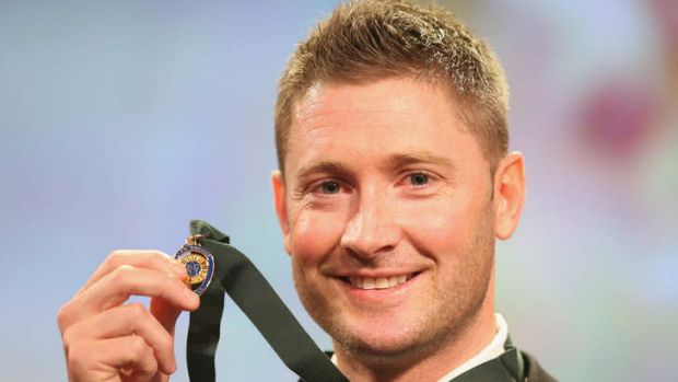 Top that: Four-time Allan Border Medal winner Michael Clarke.
