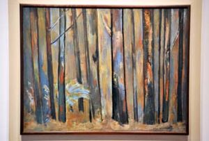 A marriage of techniques ... Sherbrooke Forest is part of the Fred Williams collection up for sale.