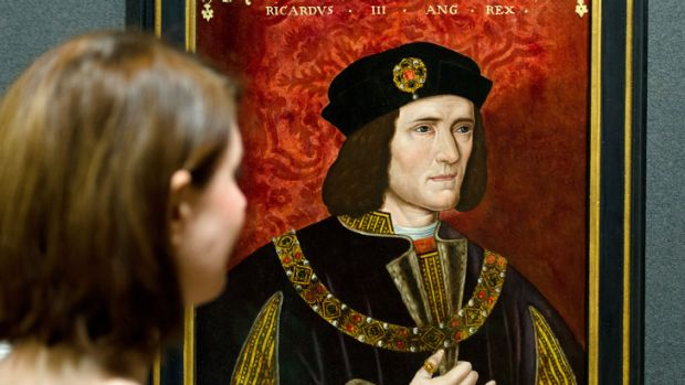 A portrait of King Richard III by an unknown artist in the National Portrait Gallery in central London.