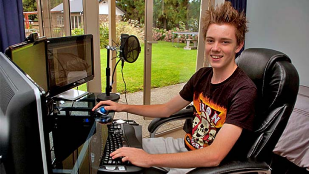 Money maker ... Corey Harris has paid for a new computer and will fund his university studies using money he made on YouTube.