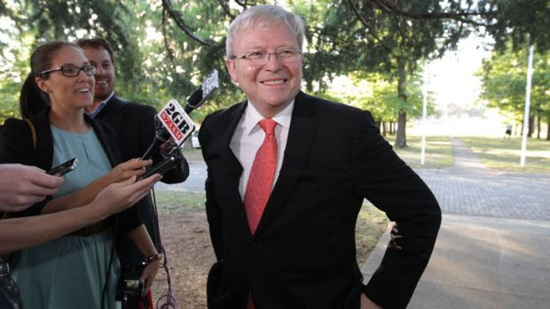 Kevin Rudd has scoffed at reports he is within striking distance of toppling Julia Gillard for the federal Labor ...
