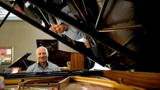 Selling pianos is a dream gig for Mark O'Connor.
