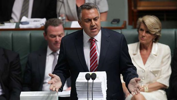 Joe Hockey during question time.