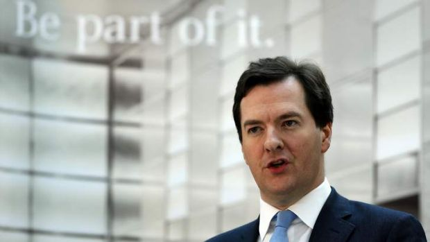 Britain's Chancellor of the Exchequer George Osborne said British banks that fail to guard their day-to-day banking from ...
