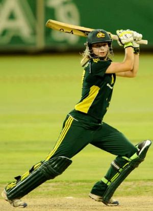 """We needed the top order to stand up today, Meg and I certainly did that"" ... Jess Cameron on her partnership with Meg ..."