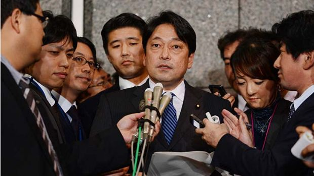 'This is extremely abnormal behaviour': Japan's defense minister, Itsunori Onodera.
