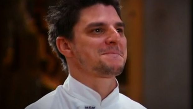 Bitten off more: <i>MasterChef</i>'s Michael claimed to be able to beat Jacques Reymond in a dinner service, will he eat ...