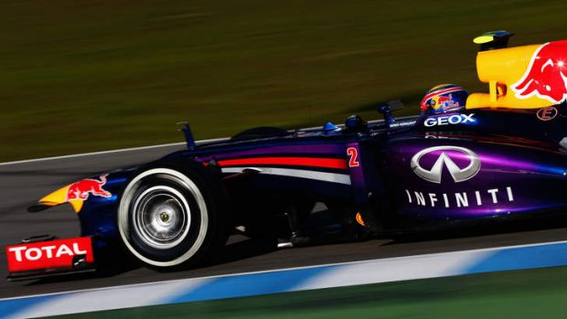 Mark Webber of Australia drives during formula one winter testing at Circuito de Jerez in Spain.
