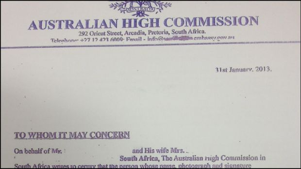 A pretty genuine-looking fraudulent document used by scammers to try and sell Perth properties without the owners' consent.