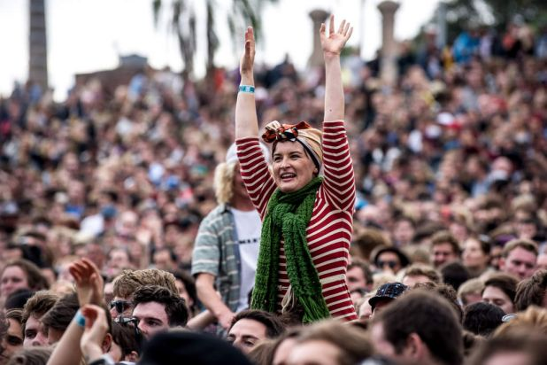 Fans watching Alt-J.