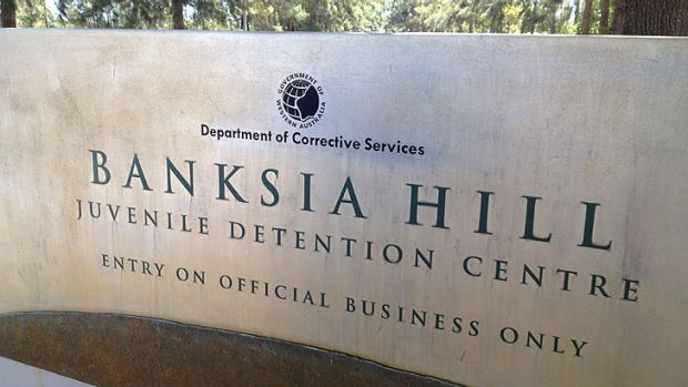 The entrance to Banksia Hill detention centre in the southern suburb of Canning Vale.